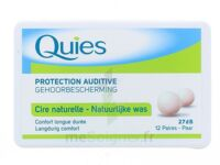 QUIES PROTECTION AUDITIVE CIRE NATURELLE 12 PAIRES à PARIS