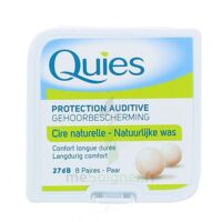 QUIES PROTECTION AUDITIVE CIRE NATURELLE 8 PAIRES à PARIS