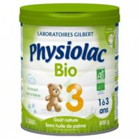 PHYSIOLAC LAIT BIO 3EME AGE 900g à PARIS